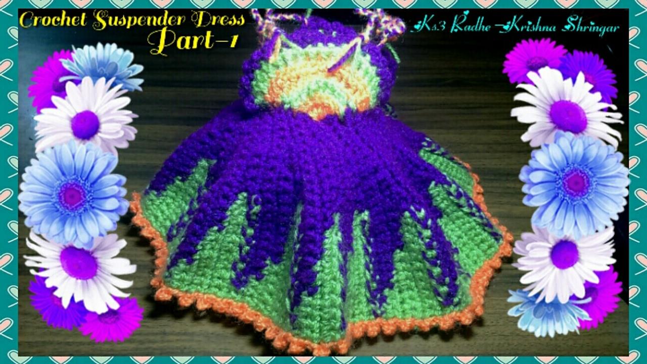 Knitting Crochet Winter Woollen Flower Dress Poshak For