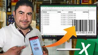 📱 Usa tu celular como LECTOR DE CÓDIGO DE BARRAS, QR y envía parámetros a Excel screenshot 1