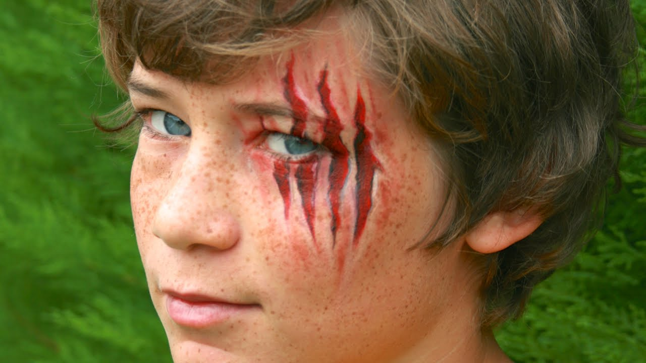Halloween makeup: Claw wounds / Werewolf Lacerations, without ...
