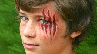 Halloween makeup: Claw wounds / Werewolf Lacerations, without latex! - Face painting tutorial