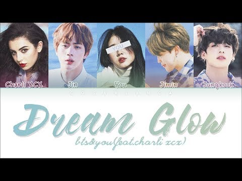 BTS Charli XCX 「Dream Glow」 5 Members ver Color Coded  HanRomEng