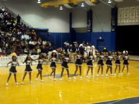 George Washington High School GWHS Varsity Cheerleaders Work