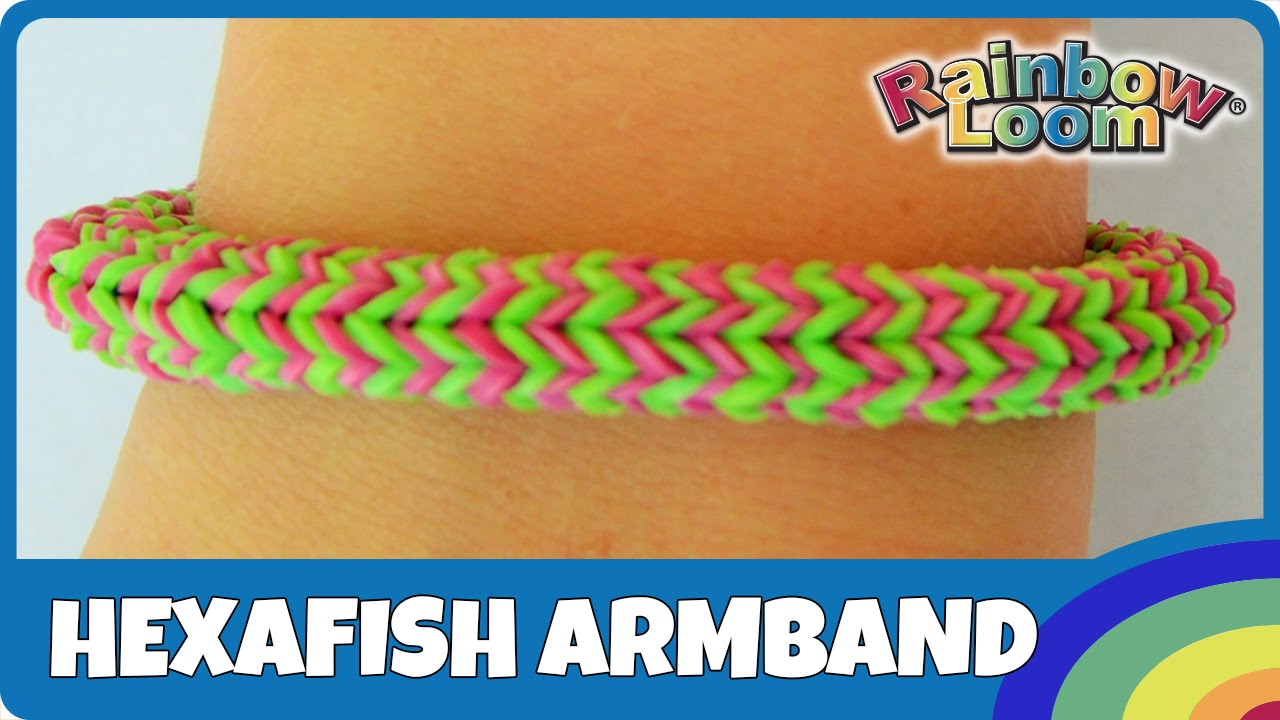 rainbow loom hexafish armband deutsche anleitung youtube. Black Bedroom Furniture Sets. Home Design Ideas