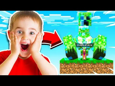 7 YEAR OLD MAKES IMPOSSIBLE MINECRAFT WORLD!