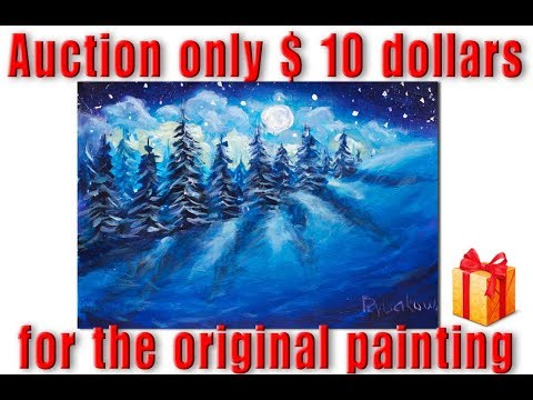 Auction only $10 dollars for the original painting of the artist Valery Rybakow!
