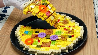 Lego Pizza - Lego In Real Life / Stop Motion Cooking  ASMR