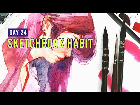 New Favorite Brush!? | Sketchbook Habit Day 24