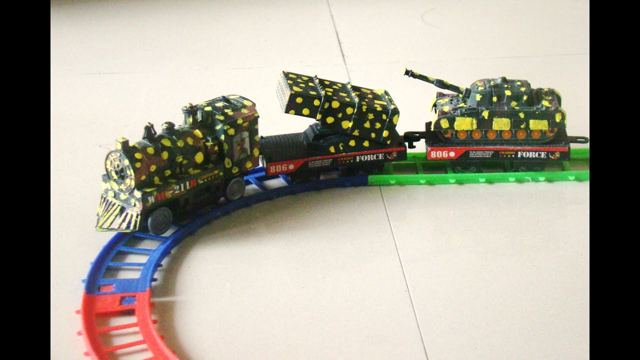 TOY TRAIN VIDEO FOR CHILDREN ARMY TRAIN