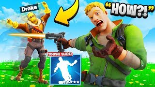 I Trolled Him With NEW Toosie Slide Emote.. (Fortnite)