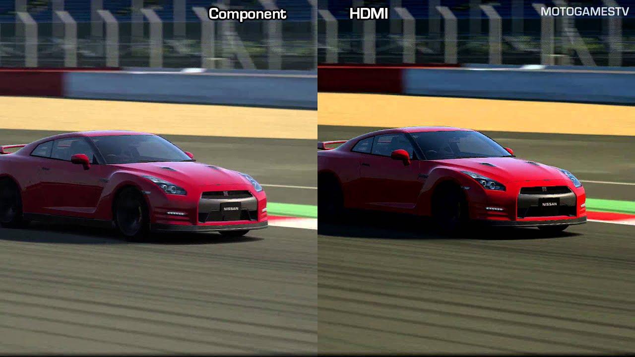 Gran Turismo 6 - Component vs HDMI - 1080p Graphics Comparison