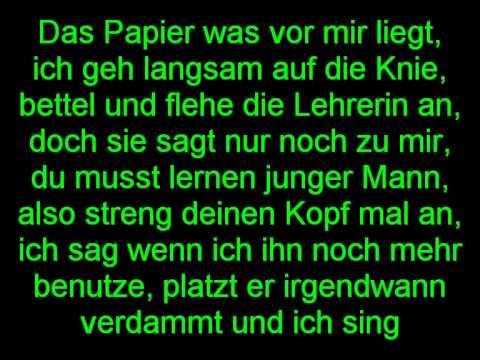 NAMP kein bock auf schule Lyrics (on Screen)