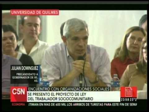 C5N - POLITICA: JULIAN DOMINGUEZ EN LA UNIVERSIDAD DE QUILMES