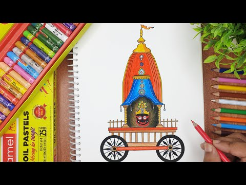 Rath Yatra  Festival Drawing 2021 Part-2   How to draw jagannath Rathyatra step by step   