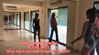 Ramp Walk Training With Indian Supermodel Alesia Raut