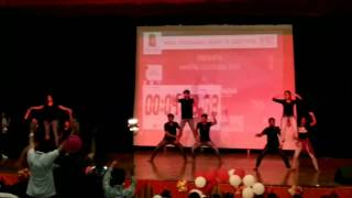 amazing choreography in dance steps.