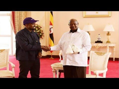 Kanye West Visits Uganda & Meets President Museveni