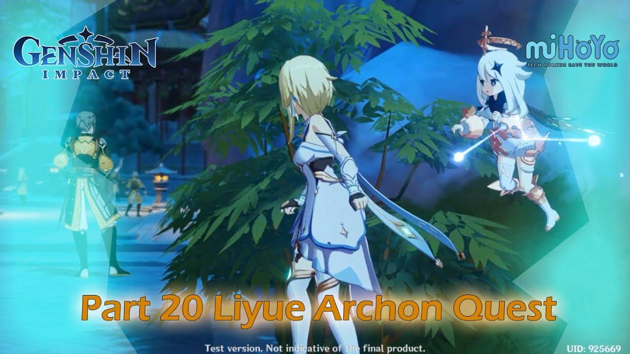 Genshin Impact CBT2 Walkthrough Part 20 Liyue Archon Quest ...