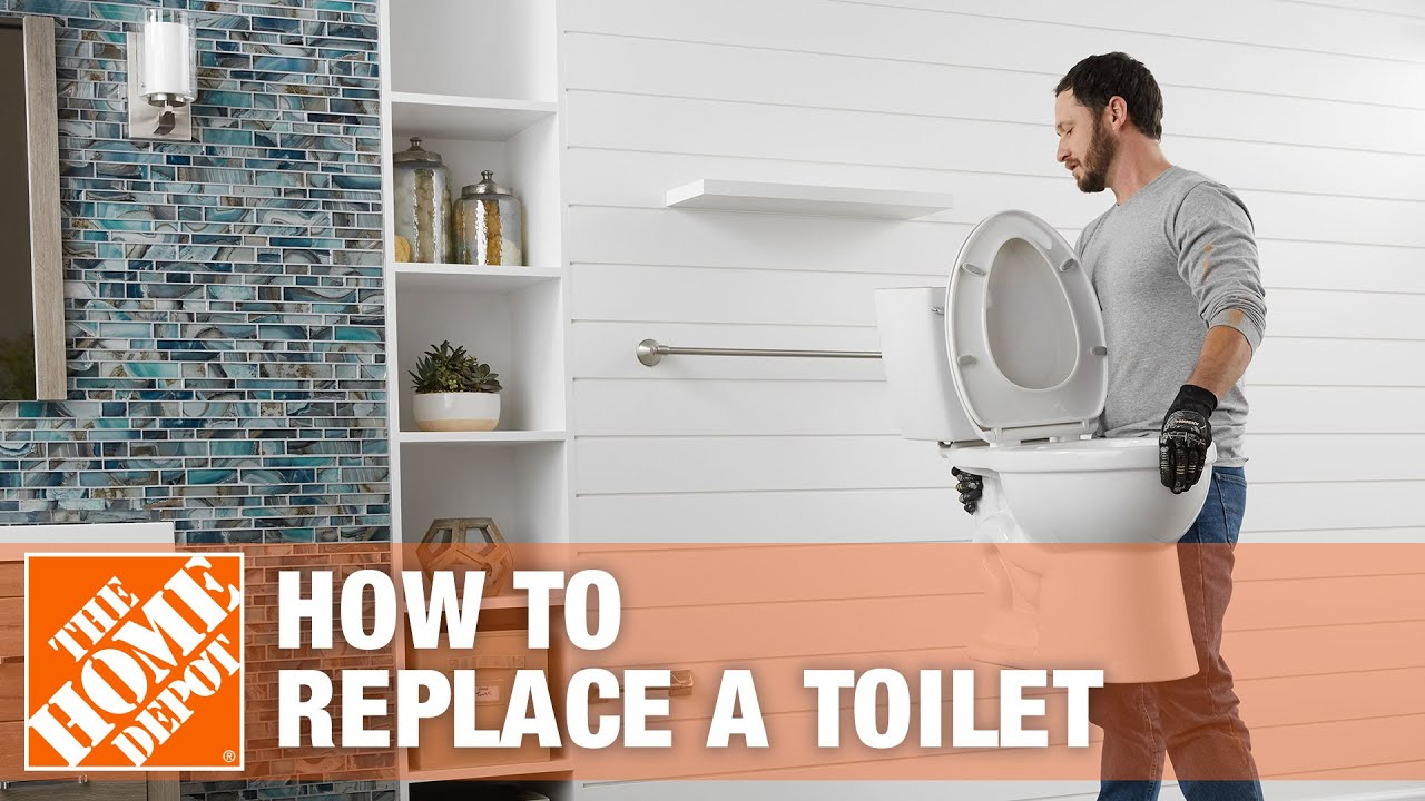 How To Replace Or Install A Toilet The Home Depot You Rh Com Bathroom Subfloor Around Installing Tile Floor