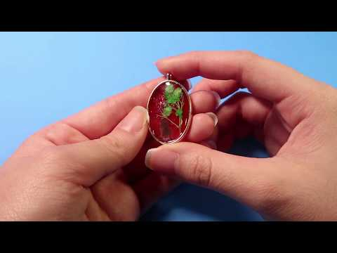 DIY Resin Jewelry | How To Make a Resin Jewelry Alice oval Necklace | Full Tutor Video