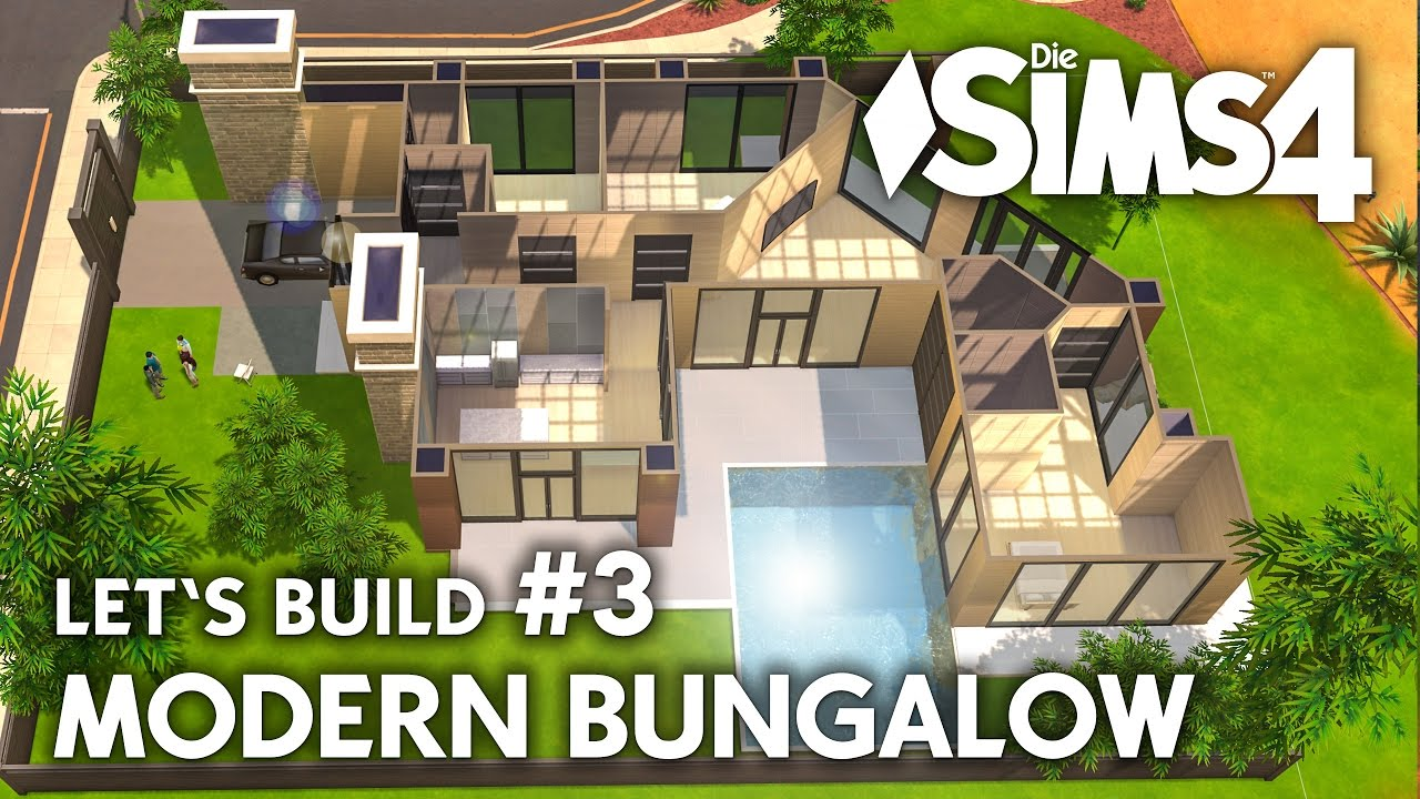 Die sims 4 haus bauen modern bungalow 3 let 39 s build for Bungalow modern einrichten