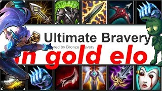 Randoming my builds in Gold Elo (Bravery) if my teammates don't join discord