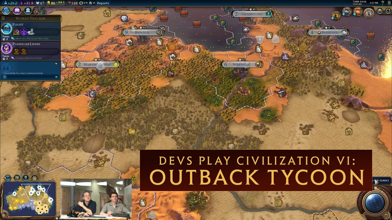 civilization vi devs play outback tycoon new australia scenario