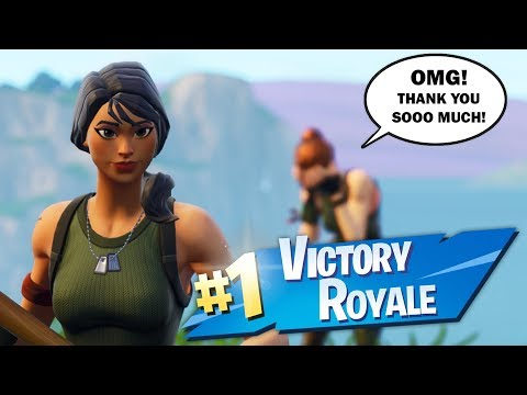 acting like a DEFAULT SKIN then CARRYING a KID to his FIRST WIN .. (emotional)