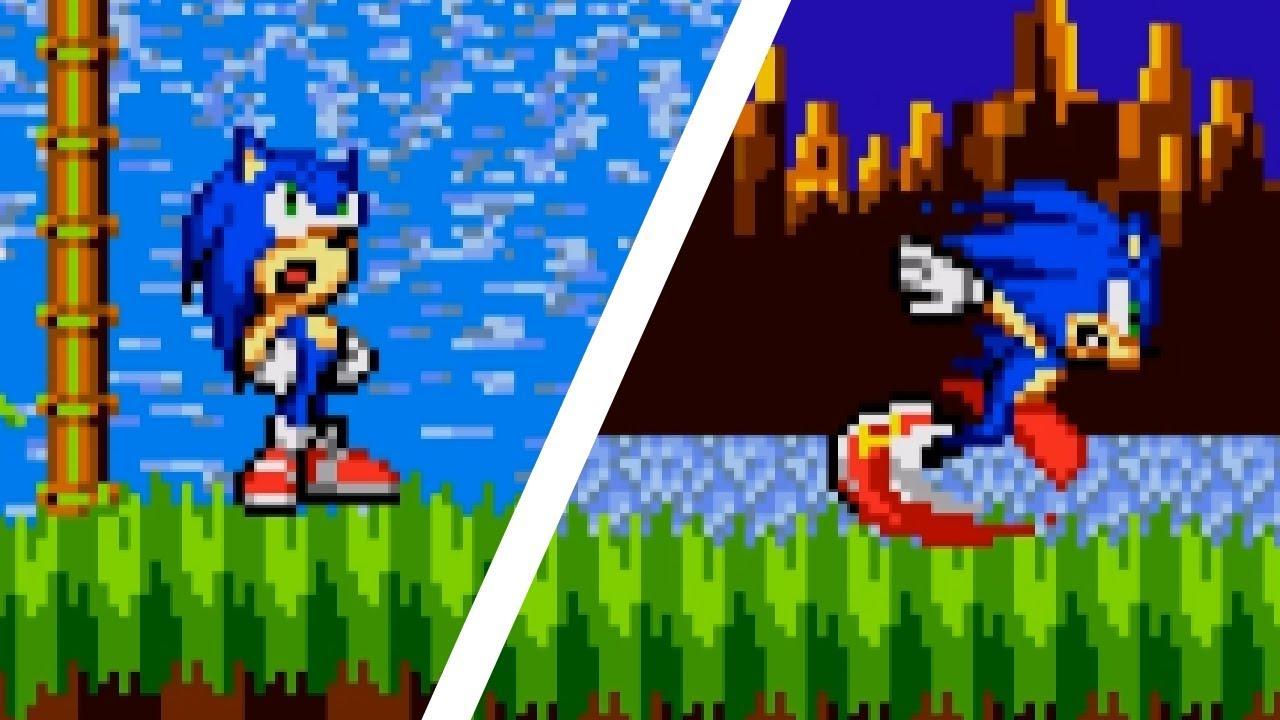 Modern Sonic in Sonic 1 | Sonic Hacks ⮚ Gameplay