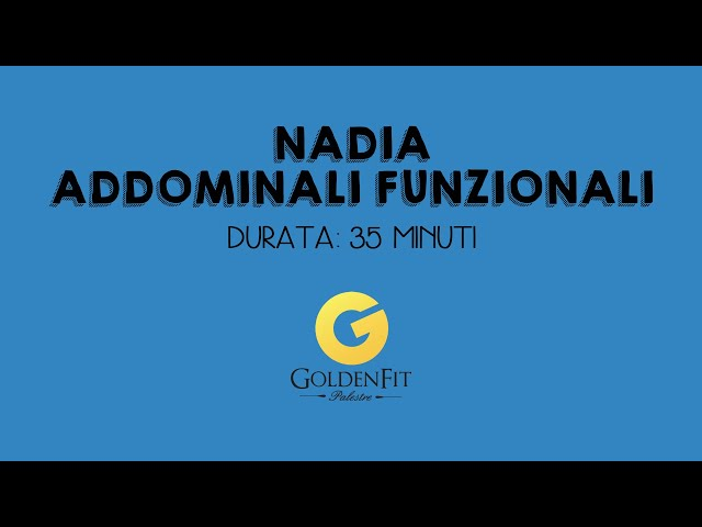 Addominali Funzionali con Nadia
