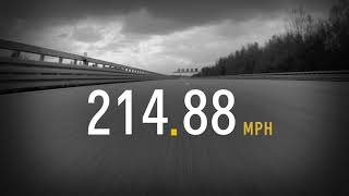 Watch the Chevrolet Corvette ZR1 hit 212 mph at proving ground test track