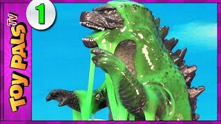 Birth of GODZILLA Toys Hatching in SLIME SURPRISE EGGS | Godzilla vs Dinosaurs Toys Video 1