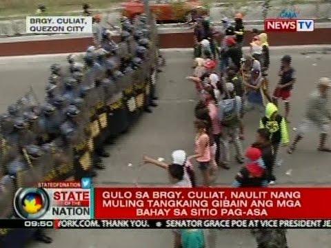 SONA: Gulo sa Brgy, Culiat, naulit nang muling tangkaing gibain ang mga bahay sa Sitio Pag-asa