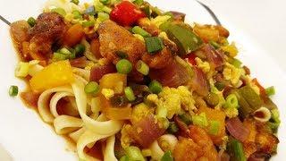 Mixed Gravy Manchurian Pasta - A Mother