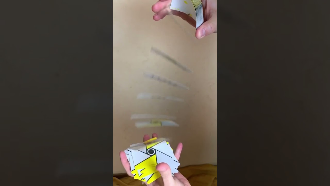 Slow mo card spring - cardistry