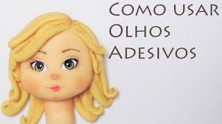 DIY Como usar olhos adesivos 1