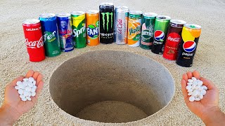 Experiment !! Cola, Pepsi, Fanta, Sprite, Monster, Fer, Red Bull, Yedigün and Mentos Underground