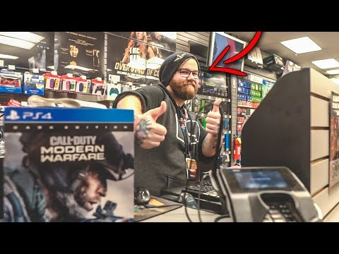 MODERN WARFARE MIDNIGHT RELEASE VLOG - THE COOLEST GAMESTOP MANAGER - CALL OF DUTY MW MIDNIGHT!