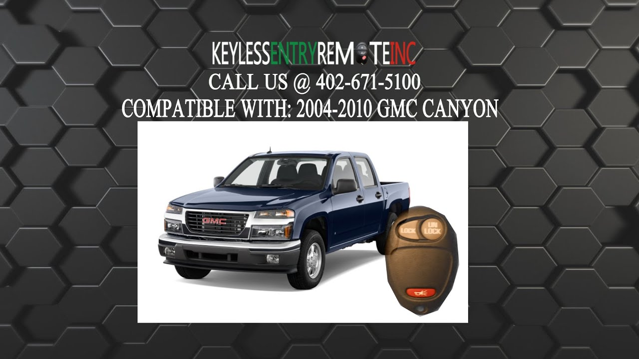 How To Replace Gmc Canyon Key Fob Battery 2004 2005 2006 2007 2008 2009 2010