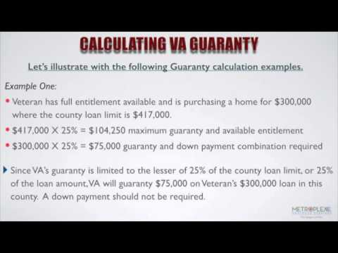 How Do You Calculate The Va Guaranty And Available En Lement