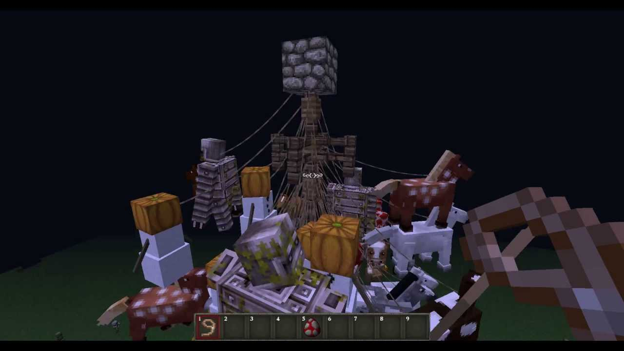 Minecraft Inventions Tuesday Mob Chandelier