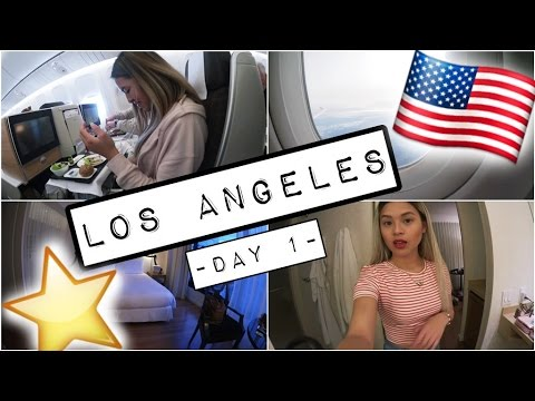 LOS ANGELES VLOG #1 | FLUG FAST VERPASST, 1. MAL BUSINESS CLASS & ROOM TOUR..