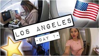 LOS ANGELES VLOG #1 | FLUG FAST VERPASST, 1. MAL BUSINESS CLASS & ROOM TOUR..