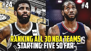 Ranking Every NBA Team Starting 5