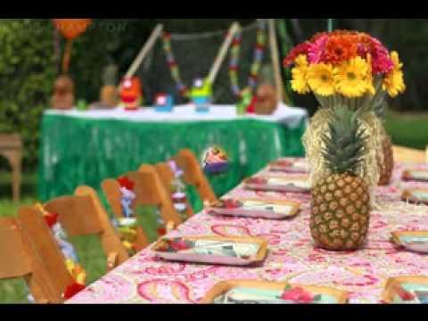 Luau party decor ideas for kids