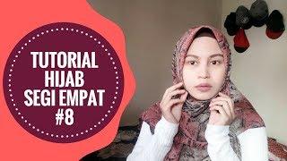 Tutorial Hijab Segi Empat Menutupi Dada #8