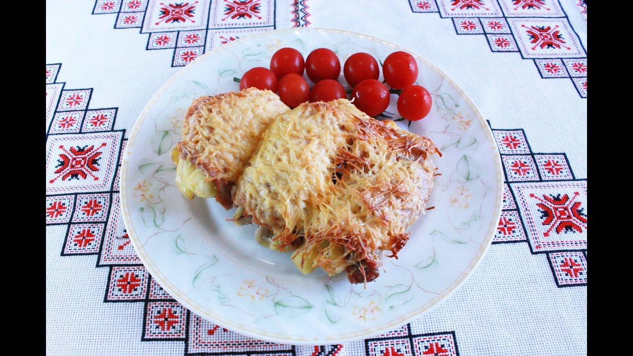 Мясные рулетики с картошкой и сыром в духовке Крученики с ...