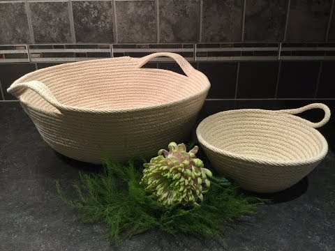 HOW TO - MAKE ROPE BOWLS - with sewing machine - full tutorial