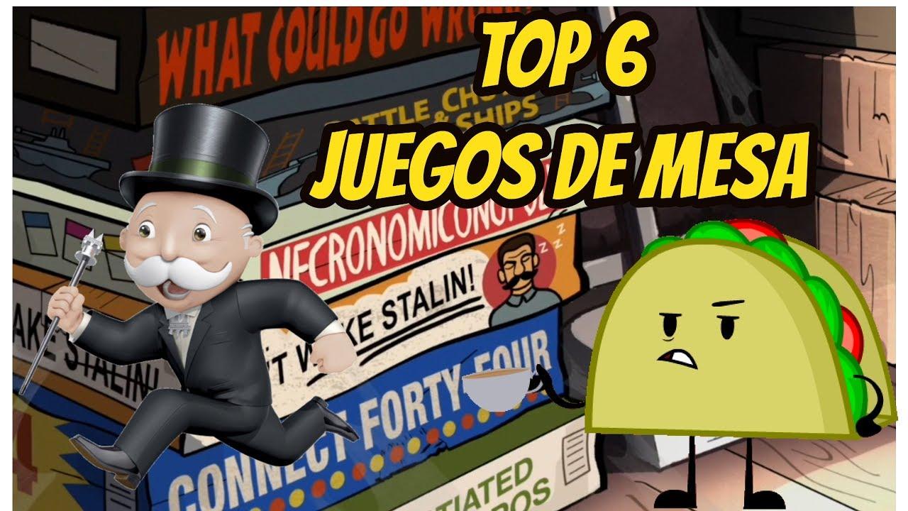 Juegos De Mesa Top 6 Juegos De Mesa Mas Divertidos Youtube