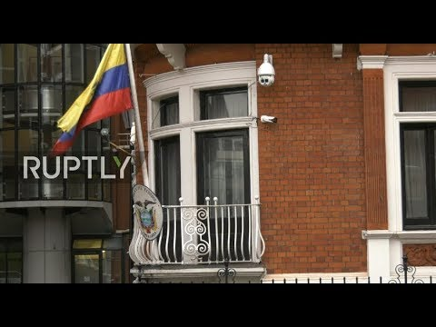 UK court upholds Assange's arrest warrant: live outside Ecuadorian Embassy
