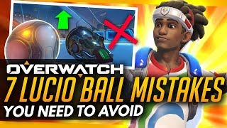Overwatch | 7 Mistakes for Competitive Lucio Ball